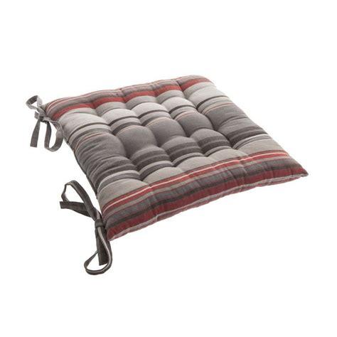 coussin de chaise gris coussin de chaise rayure gris galette et coussin de