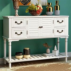 Farmhouse, Console, Table, Wood, Sofa, Table, With, Storage, Rustic, Entryway, Table, With, 4, Drawers, And