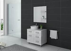 Meuble Simple Vasque : meuble de salle de bain simple vasque 80 cm meuble de salle de bain blanc milan distribain ~ Teatrodelosmanantiales.com Idées de Décoration