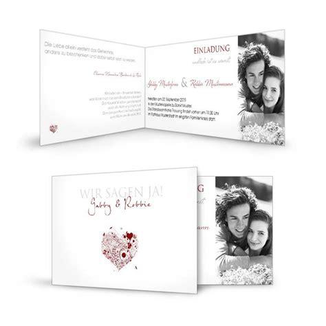 einladungskarte zur hochzeit schlicht weiss und romantisch