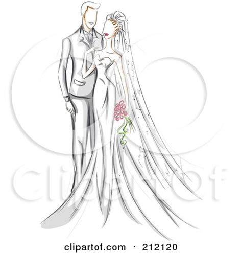 clipart   silhouetted bride  groom   kiss