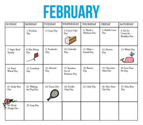 kirkwood call fun national holiday calendar february