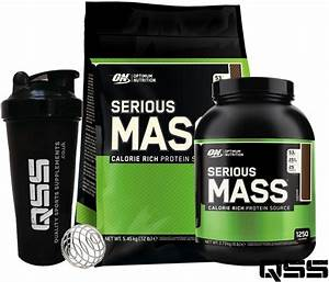 On Optimum Nutrition Serious Mass Weight Gainer Protein Shake 12lbs    6lbs