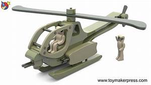Wood Toy Plans - Vietnam War Helicopter - YouTube
