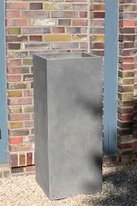 Pflanzkübel Beton Eckig : 4er set pflanzk bel blumenk bel aus beton block 100 anthrazit ~ Orissabook.com Haus und Dekorationen