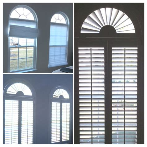 specialty shaped window treatments beach style