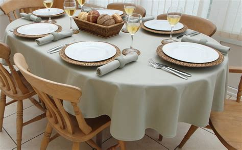 tablecloth for oval table cotton collection sage oval the tablecloth company