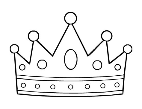 Crown Coloring Page Poster