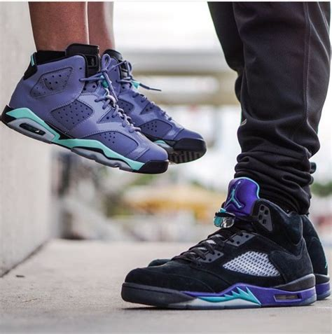 Shoes sneakers fashion style jordans purple blue blue shoes black shoes black sneakers ...