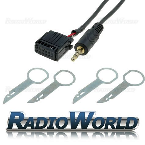 ford 6000 cd aux in gold plated input adapter for ipod mp3 radio pins ebay