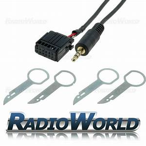 Ford Focus Mondeo Fiesta 6000cd Aux In Adapter Cable Ipod Mp3 Lead  Removal Keys