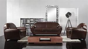 Salon En Cuir : salon cuir jazzy canap s 3 2 places fauteuil mobilier moss ~ Medecine-chirurgie-esthetiques.com Avis de Voitures