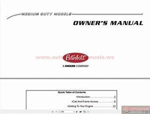 Peterbilt Medium Duty Trucks Owner U0026 39 S Manual