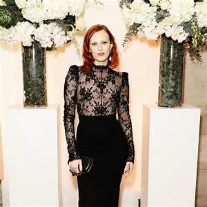 Karen Elson Wearing Black Dress By Alexander McQueen 2020 ...