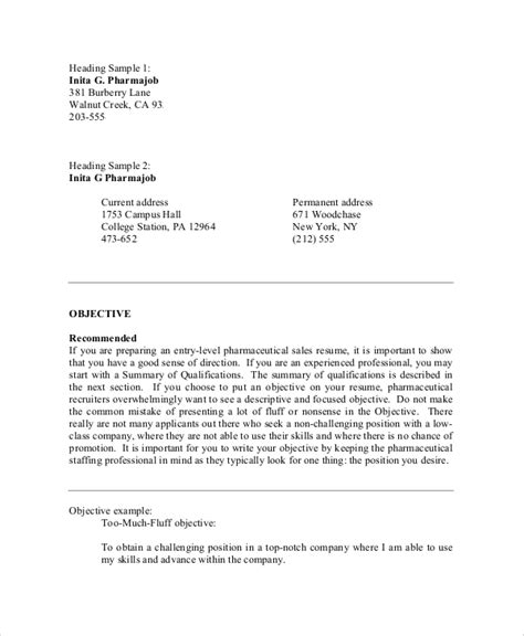 resume objective samples  ms word
