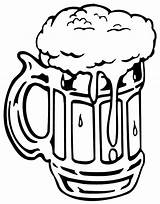 Beer Coloring Mug Bottle Foaming Drawing Drawn Tocolor Place Root Clipart Pencil Printable Getcolorings Button Through sketch template