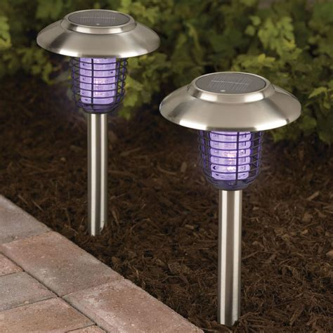 solar bug lights the solar insect zappers hammacher schlemmer