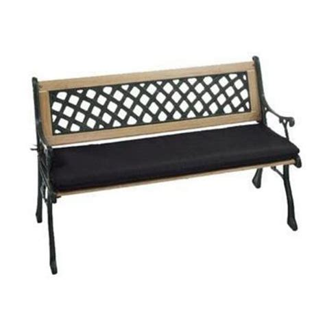 Outdoor Bench Cushions Home Depot by Home Decorators Collection Black Sunbrella Outdoor Bench
