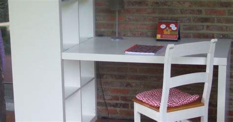 ikea etagere bureau bureau avec étagère kallax ikea ebay idées coin bureau