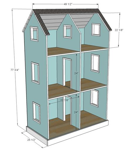 Simple Plans To Build A Dollhouse Placement white three story american or 18 quot dollhouse