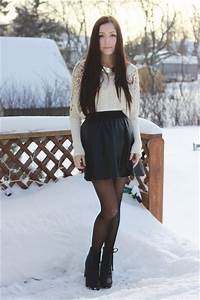 Gorgeous Short Leather Skirts with Sweater Styling for This Winter u2013 Designers Outfits Collection