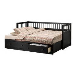 black white ikea hemnes daybed with storage drawer trundle trundles beds bedroom