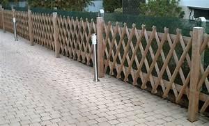 Barrière En Bois Jardin : cloture croisee 5x100x250cm divers 2002052 la soci t ~ Premium-room.com Idées de Décoration
