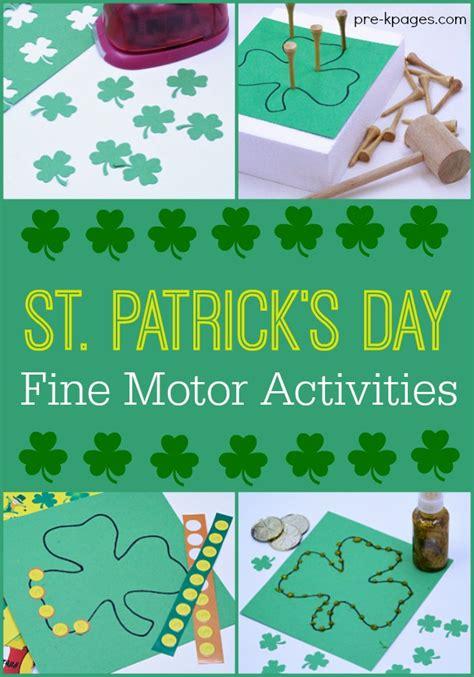st s day motor activities 718 | Shamrock Fine Motor Activities