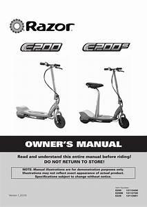 Razor E225 Owner S Manual