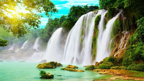 Nice Waterfall Picture 1920 × 1080 Wallpaper