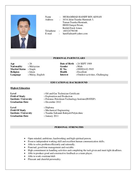 Marital Status Married Resume by Resume