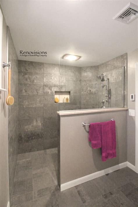 open showers ideas  pinterest small bathroom