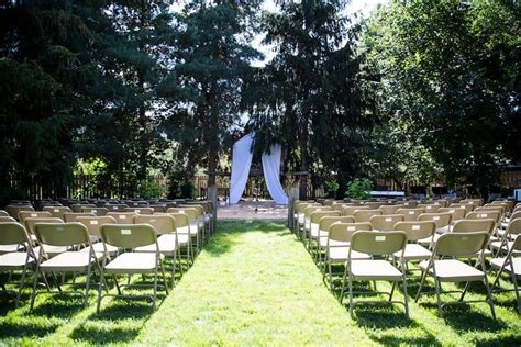 real backyard wedding ceremony  reception home