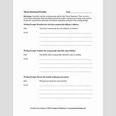 Thesis Statement Worksheet Homeschooldressagecom
