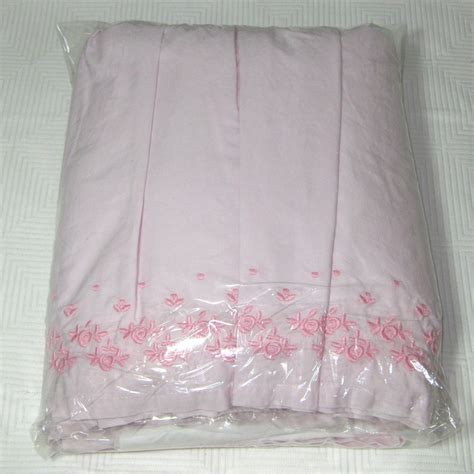 simply shabby chic bed skirt simply shabby chic king embroidered pink ruffled used bedskirt