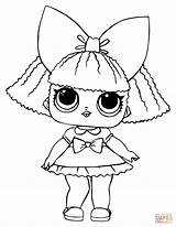 Coloring Lol Doll Pages Queen Glitter Printable Drawing Paper sketch template