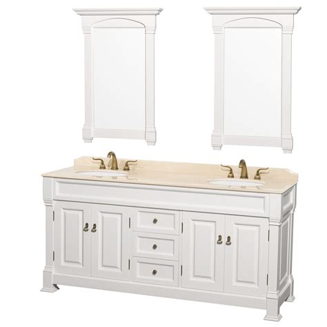 white double sink vanity 72 quot andover traditional bathroom double vanity set by