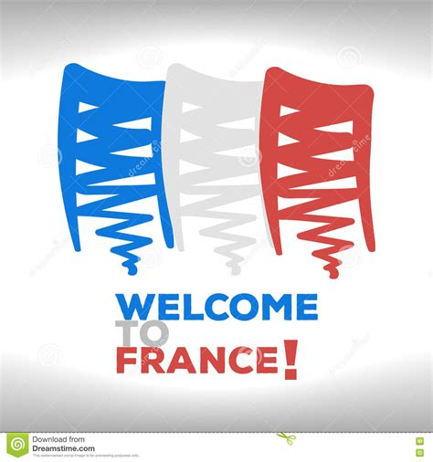 The French Flag Stock Vector - Image: 71928654
