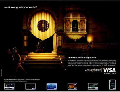 Check spelling or type a new query. Print Ads: Visa Signature cards ad - Want to upgrade your world?