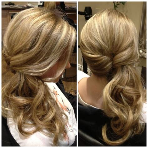 sideswept twisted ponytail http://thepageantplanet com