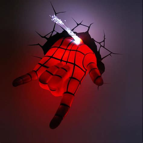 Marvel Avengers Spider Man Hand 3D Deco Wall LED Night Light Art FX Room Decor   eBay