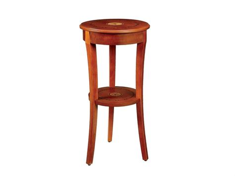 how tall are end tables marquetry inlaid tall round wood accent table pedestal ebay
