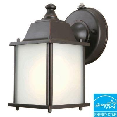 wall mount 1 light outdoor rubbed bronze dusk to