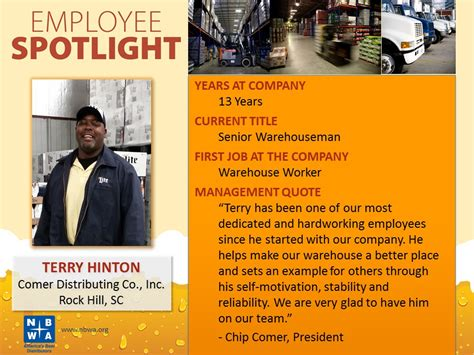 employee spotlight template employee spotlights nbwa america s distributors