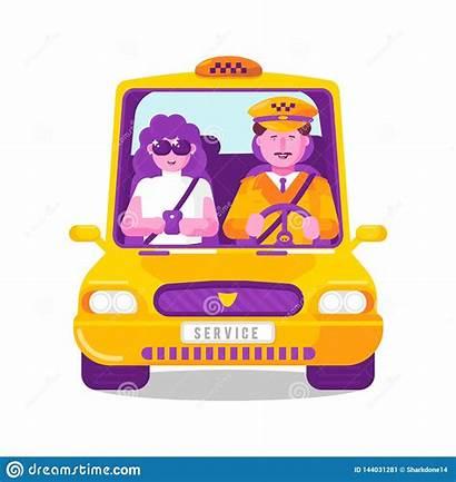 Cab Taxi Driver Transport Illustartion Concept