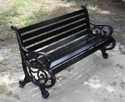 Black Wrought Iron Bench  Chiang Mai Forum Thailand