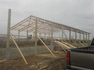 50 foot steel truss clear span agricultural building With 40ft truss