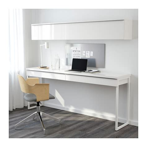 bureau pc ikea bestå burs desk combination high gloss white 180x40 cm