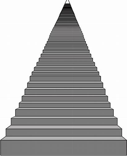 Stairs Steps Clipart Perspective Staircase Vector Step