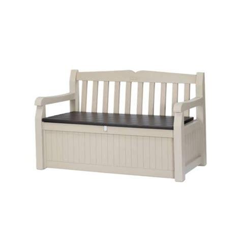 banc coffre resine garden bench keter